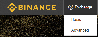 Binance exchange basic advanced