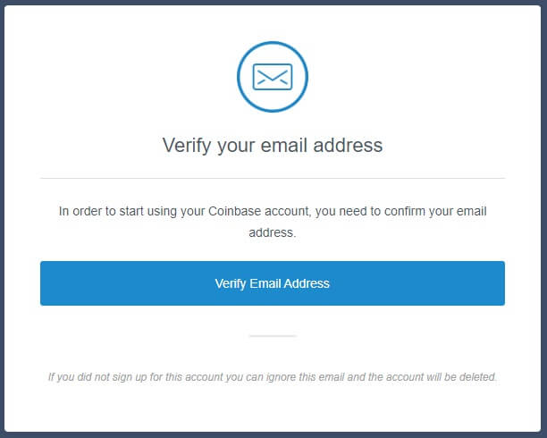 Coinbase Verify E-mail